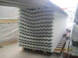 Feuilles ondulées en plastique de toiture de fibre de verre, plaque d'appui ondulée