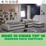 Maison moderne L sofa de cuir de vache à forme avec le Tableau de mémoire