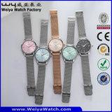 Orologi delle signore del quarzo della vigilanza della cinghia di cuoio del ODM della fabbrica (Wy-066C)