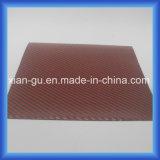 Tissu rouge de fibre de carbone de Kevlar