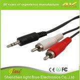 Digitas 3.5 milímetros de cabo estereofónico para o telefone móvel dos media