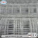 Frontière de sécurité blanche galvanisée à faible teneur en carbone de ferme de maille de fil d'acier