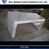 Reine weiße hohe glatte Oberfläche gebogener Büro-Schreibtisch-Büro-Tisch