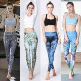 El desgaste de Fitness mujer Gimnasio y pantalones de yoga Personalizar patrón impreso