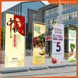Содействие продаже Door-Type подставку для использования внутри помещений реклама подставка для дисплея баннер
