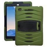 Caisse d'armure pour l'iPad 3 4 5, pour la caisse hybride d'onde choc de Kickstand de tablette d'air d'iPad d'Apple