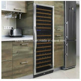 Réfrigérateur simple de vin de zone avec le bâti d'acier inoxydable