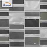 Mattonelle di mosaico grige di vetro/metallo della striscia all'ingrosso diretta di buona qualità della fabbrica