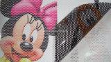Películas de vinil perfurado de publicidade a visão de uma via 1,52mx50m