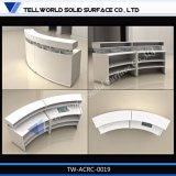 Un design moderne de l'acrylique Surface solide pour le comptoir de réception Restaurant