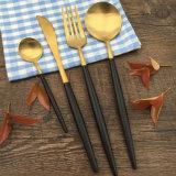 Нож вилки ложки штейнового золотистого Cutlery высокого качества установленный