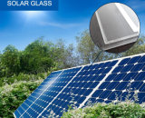 vidro solar Tempered de revestimento da AR do baixo ferro do uso do coletor solar de 4mm 3.2mm