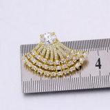 Amerikanische Diamant-Goldohrring-Form-Luxuxschmucksachen für Partei