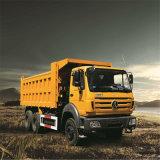 China Beiben camión pesado camión de volteo 10 ruedas Capacidad 380CV