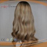 Peluca superior de seda de las mujeres del pelo humano (PPG-l-0143)