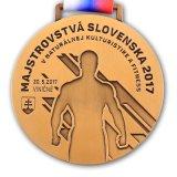 Medaillon het van uitstekende kwaliteit van de Sporten van de Medaille van het Metaal van de Douane met Lint
