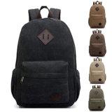 Toile sac à dos Sac à dos Sac Vintage Hommes du sac pour ordinateur portable sac de voyage de l'épaule Camping