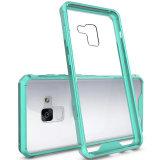 Elegante y Ultra Armadura protectora de acrílico transparente Caja de teléfono +TPU Bumper para Samsung Galaxy R8 2018