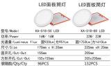 luz ultrafina embutida LED de la iluminación redonda del panel 22W