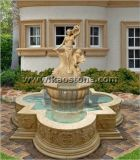 Fontana di acqua di scultura di pietra di marmo naturale/bella per il giardino
