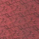 Peau lavée estampée de pêche de velours pour la robe de vêtement