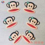 愛らしいカスタム猿柔らかいPVCシリコーンのラベルパッチ