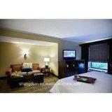 Doppelgrößen-stellten moderne Hotel-Schlafzimmer-Möbel für Verkauf ein