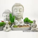 Ontwerp het in traditionele stijl van de Tuin Zen met de Decoratie van Boedha