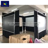 Las pantallas de xy 180 pulgadas de pantalla de proyector de plegado rápido con negro drapeado