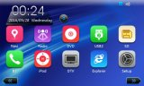 Véhicule GPS avec l'iPod DVB-T de Bluetooth DVD pour Hyundai IX45