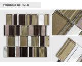 Mattonelle di mosaico di vetro lucide dipinte a mano di stile classico economico