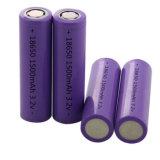 18650 Fosfato de ferro de Lítio recarregável Bateria 3.2V 1500MH