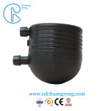 Tubo de água de plástico preta a conexão de linha