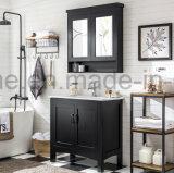 Cabina de madera impermeable moderna de la vanidad del cuarto de baño del diseño simple (ACS1-W85)