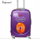 Ballon de l'impression violet valise trolley de voyage Hardside Spinner bagages extensible