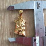 Collier pendant Mjhp080 de Hip Hop de solide d'or de partie arrière de Jésus