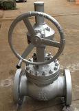 Válvula de globo operada da engrenagem cónica de aço de carcaça