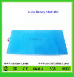 dos rechargeable de batterie au lithium de 48V 18ah avec la conformité de la CE