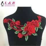 熱い販売の方法によって刺繍される首のレースの花カラー