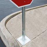 Geperforeerde de Post van verkeersteken en Ineenschuivende Vierkante Buis met Gegalvaniseerde Oppervlakte