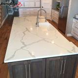 Pedra americana de quartzo de Calacatta das partes superiores contrárias de cozinha da alta qualidade do estilo