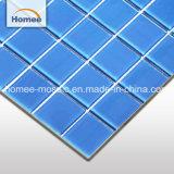 La superficie de textura mosaico azul piscina mayorista mosaico de vidrio