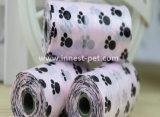 Лапка Doggie напечатала мешок Poop собаки, мешок любимчика неныжный