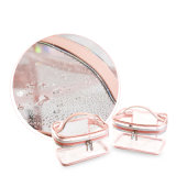 Transparenter kosmetischer Beutel für tragende Verfassungs-Toilettenartikel-kompakte Größe