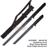 As facas de caça Espada Ninja Facas Settactical Dupla Lâmina Fixa Jot039 C