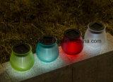 Colorear la luz solar cambiante del vector del diseño de cristal solar de la luz Niza para la decoración del jardín
