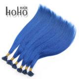 PRO azzurro diritto all'ingrosso capelli di punta del chiodo della cheratina da 12 pollici
