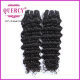 Paquets péruviens profondément bouclés 100% humains de bonne qualité de cheveu de cheveu de Vierge