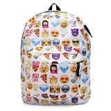 Sac à dos mignon d'Emoji d'impression des filles QQ de sacs de livre d'école d'épaule de polyester