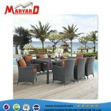 Ensembles de salle à manger d'osier de plein air et de rotin jardin/Tables et chaises de salle à manger de l'hôtel pour des projets de loisirs